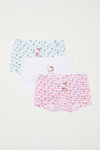 3-pack boxer briefs - White/Hello Kitty - Kids | H&M CN