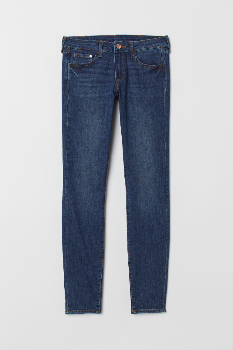 Super Skinny Low Jeans - Dark denim blue -  | H&M US