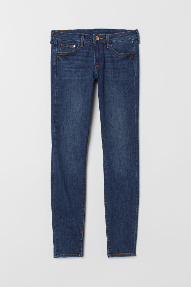 49785fb6bb Super Skinny Low Jeans - Azul denim oscuro - MUJER