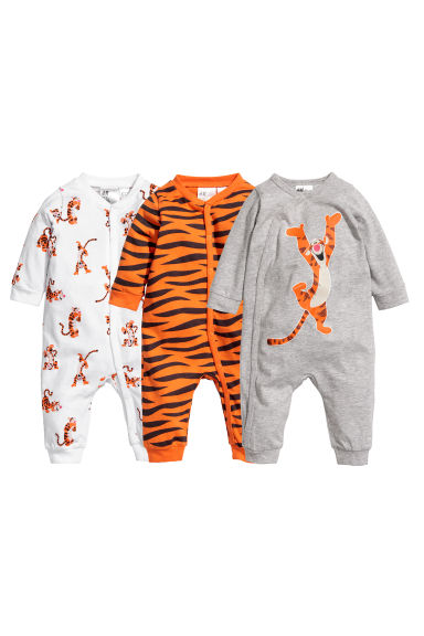 3-pack pyjamas - Light grey/Tigger - Kids | H&M CN