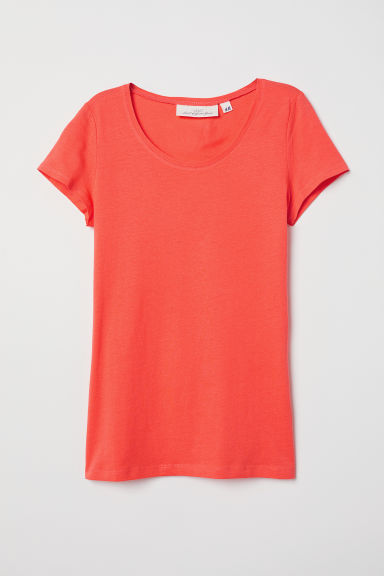 T-shirt - Koraalrood - DAMES | H&M BE