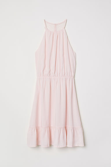 Dress with a lace back - Light pink - Ladies | H&M