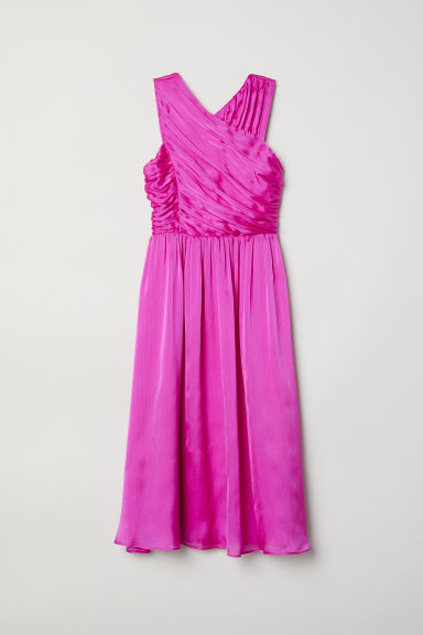 Draped dress - Cerise - Ladies | H&M CN