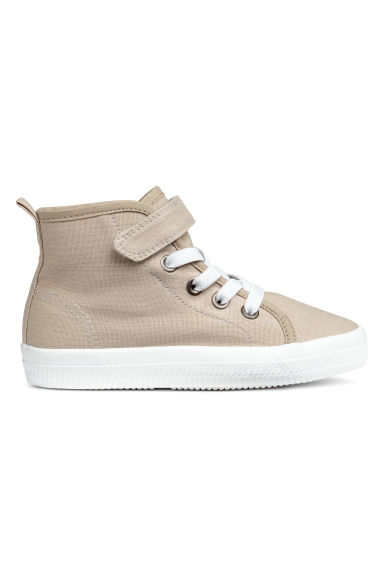 Cotton canvas hi-tops - Light beige -  | H&M CN