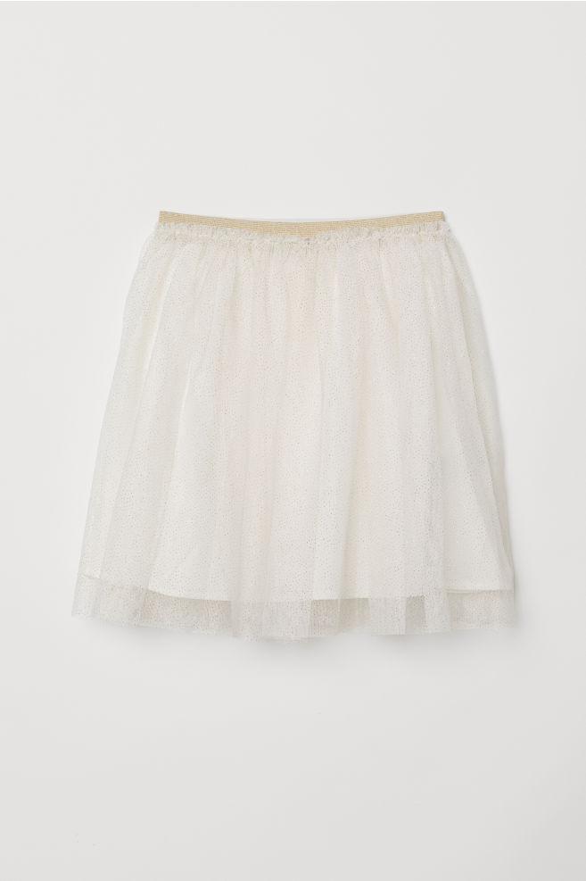 8b9e08b3843 Glittery tulle skirt - Natural white - Kids