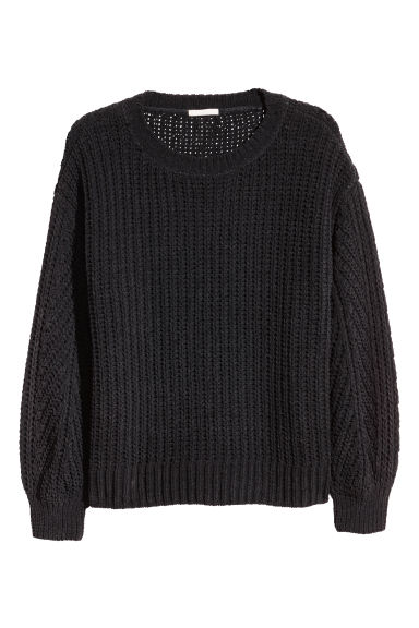 H&M+ Ribbed jumper - Black - Ladies | H&M IE