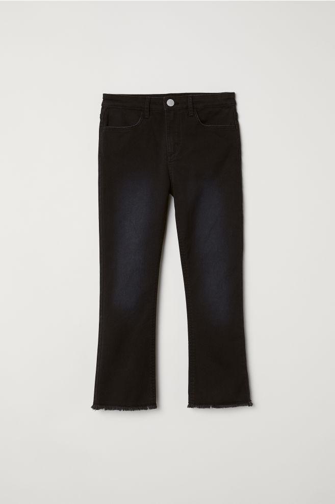b038a4bf Slengbukse - Sort/Washed - BARN | H&M ...