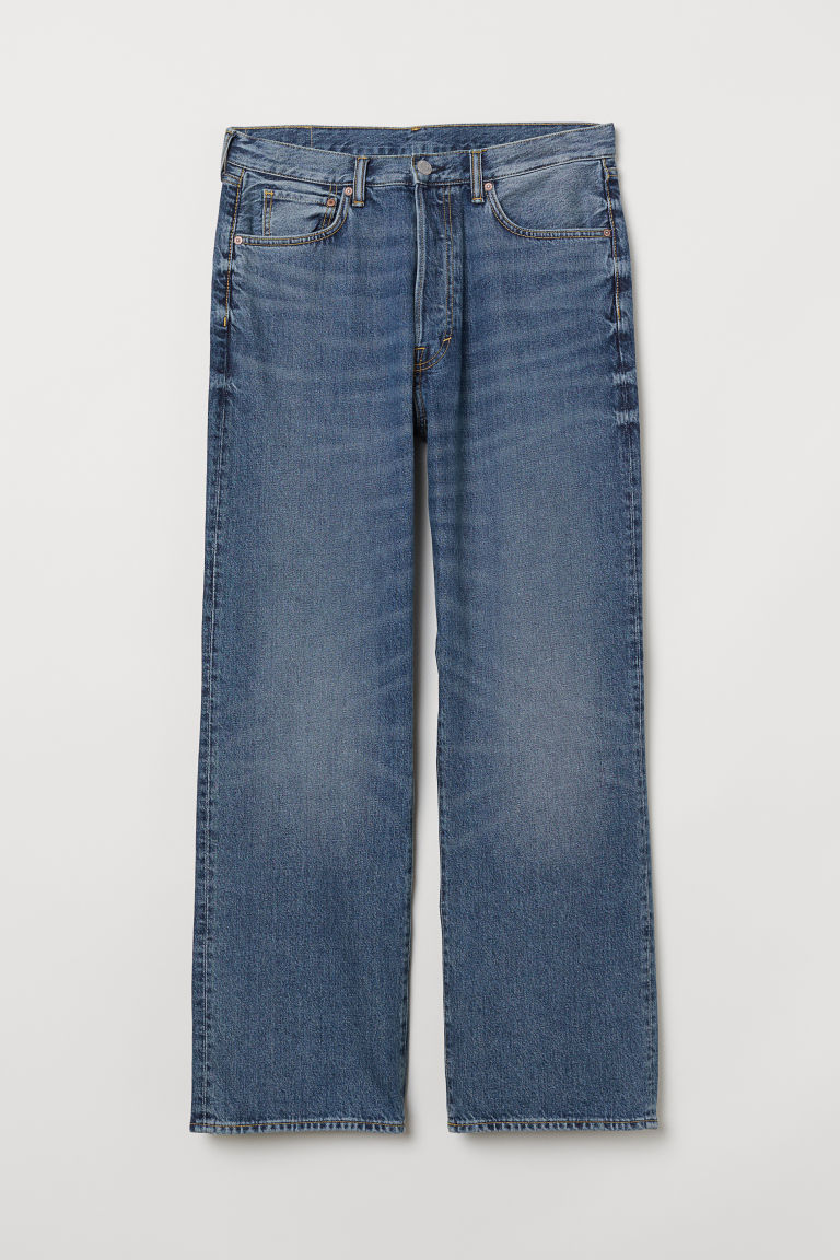 Vintage Loose Jeans - Denimblauw - HEREN | H&M BE
