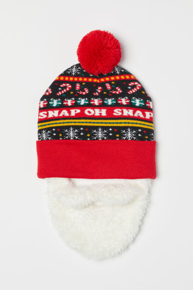 Hat with a beard - Red/Santa - Men | H&M