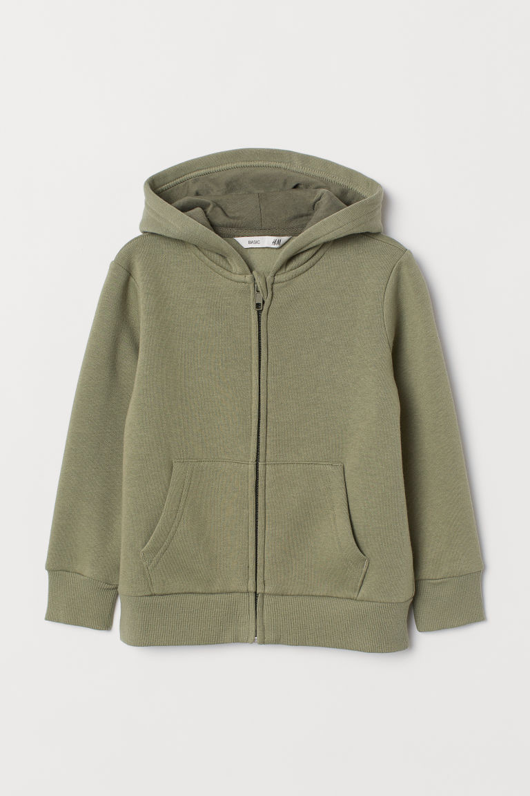 Hooded jacket - Khaki green -  | H&M CN