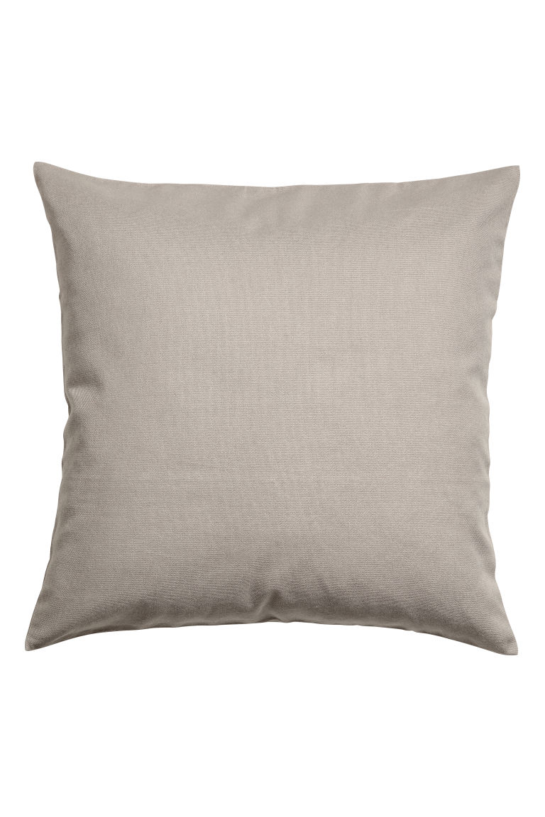 Cotton canvas cushion cover - Light mole - Home All | H&M CN