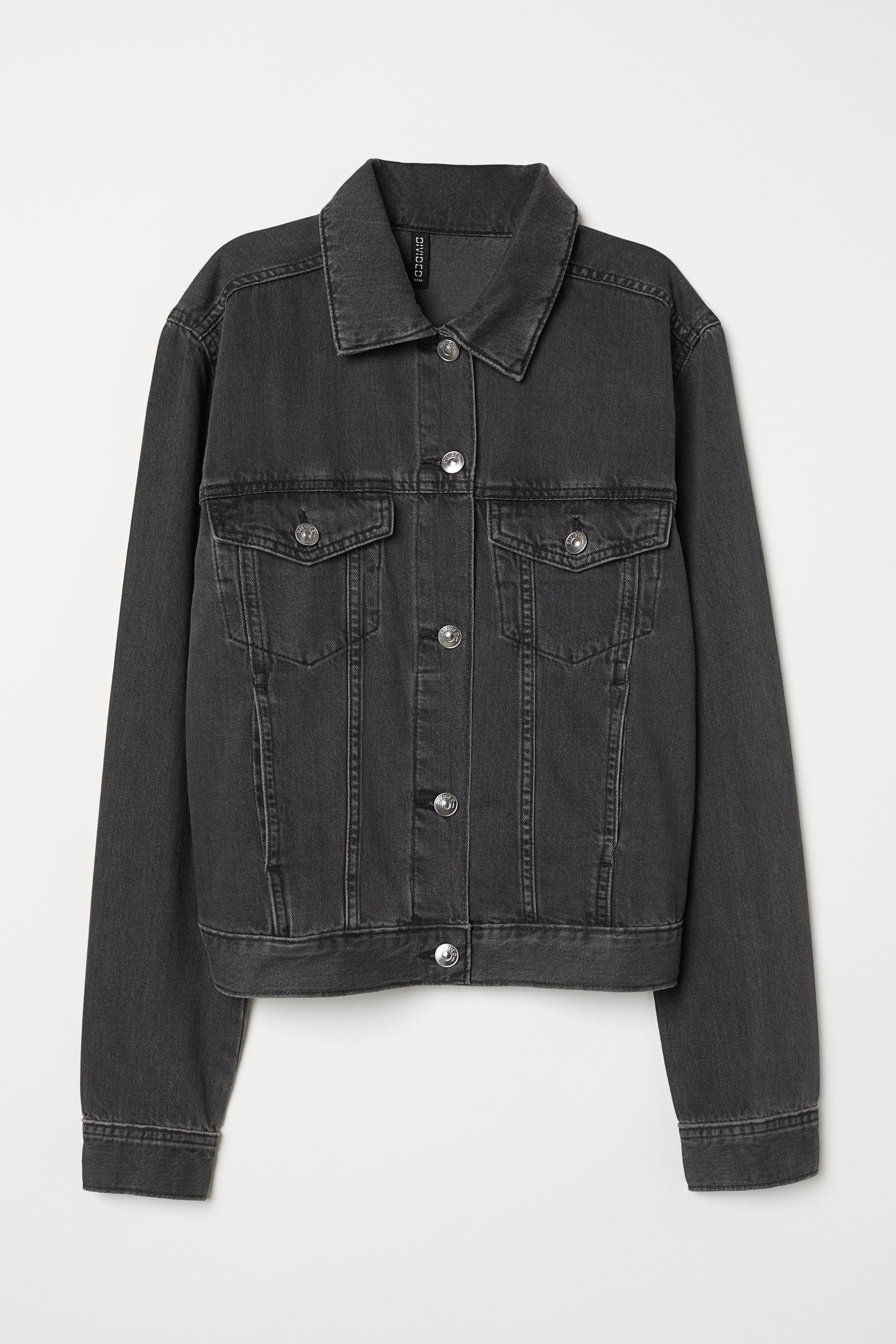 3d175d7ced6 Denim Jacket - Black denim - | H&M US