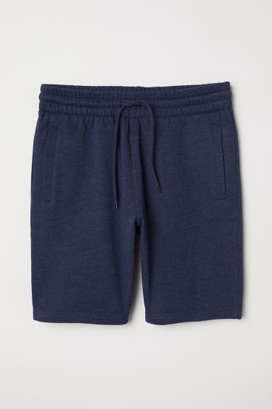 Sweatshirt shorts - Dark blue marl -  | H&M