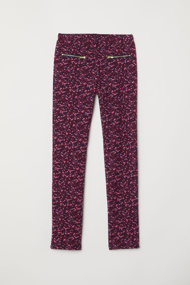 Treggings - Pink/Floral - Kids | H&M CN