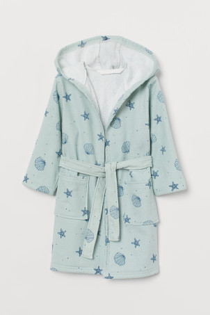 Patterned dressing gown