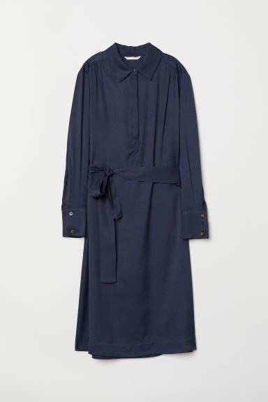 Calf-length dress - Dark blue - Ladies | H&M