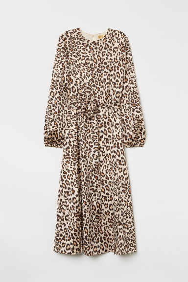 Patterned dress - Beige/Leopard print - Ladies | H&M GB