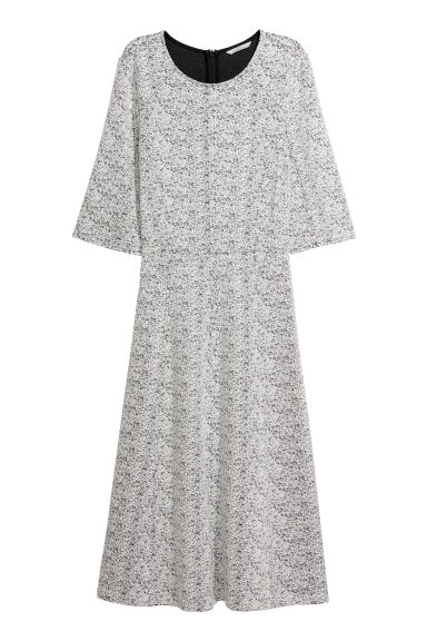 Patterned dress - Black/White patterned - Ladies | H&M