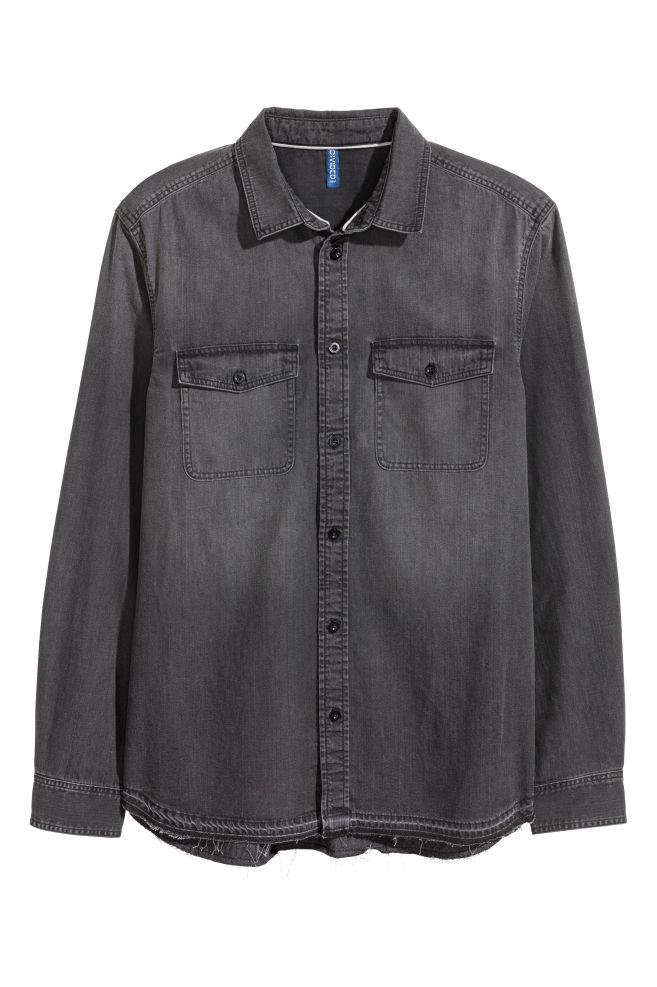 f6a161648c Denim shirt - Black Washed - Men