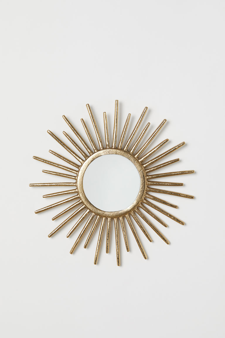 Round mirror - Gold-coloured - Home All | H&M CN