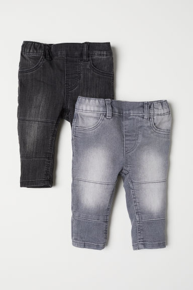 2-pack denim leggings - Denim grey -  | H&M
