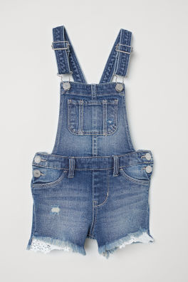 2ab313689a0d Džínsové šortky s náprsenkou