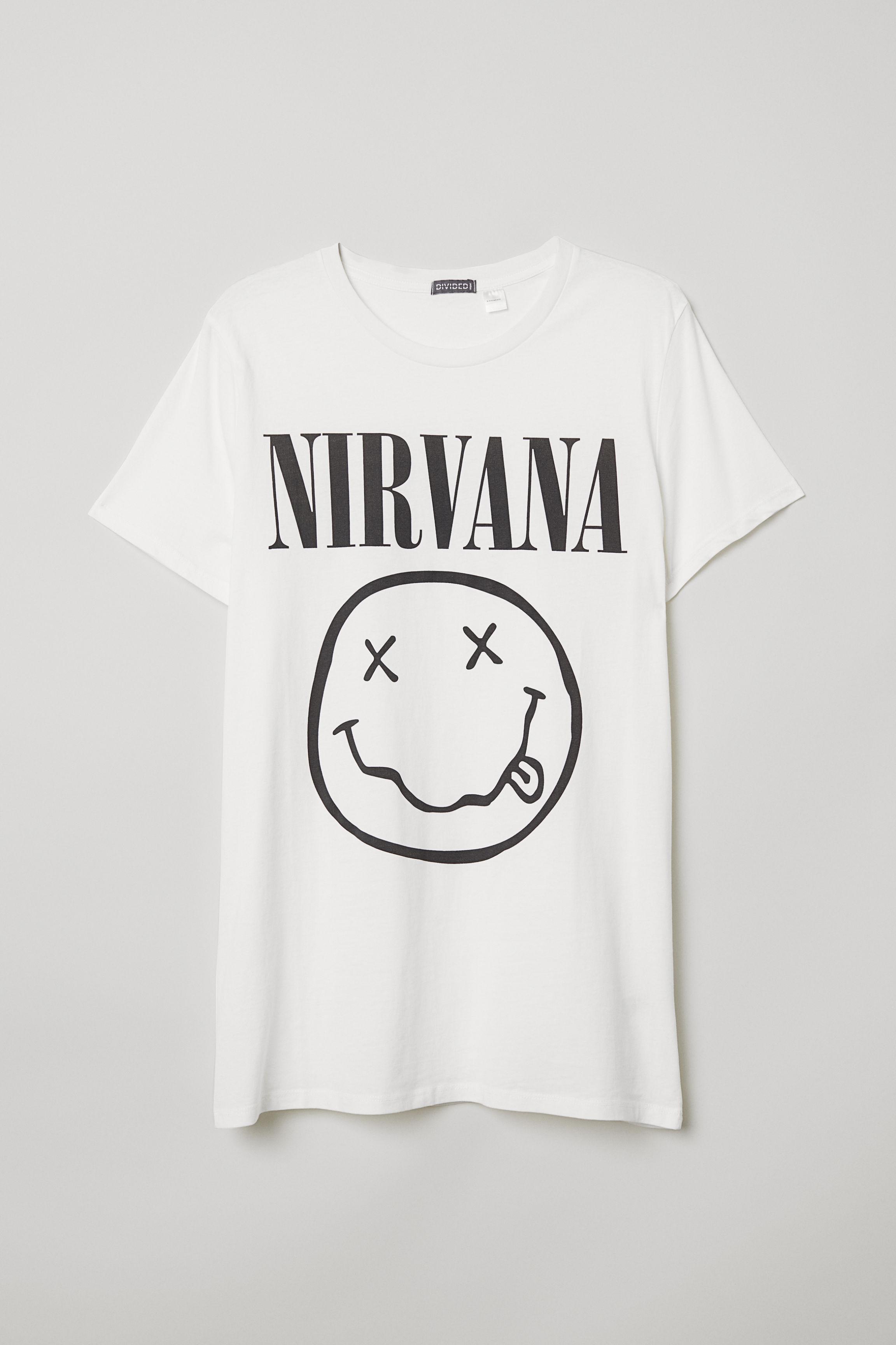 Cotton Jersey T-shirt - Light beige/Iron Maiden - Men | H&M US