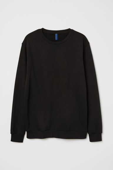 Relaxed-fit sweatshirt - Black - Men | H&M