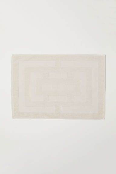 Tapis de bain jacquard - Beige clair - Home All | H&M FR