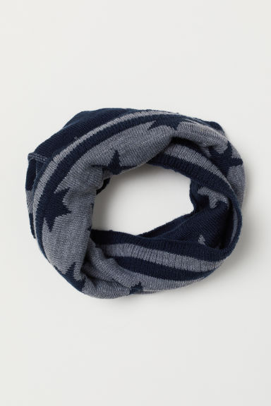 Fine-knit tube scarf - Grey marl - Kids | H&M