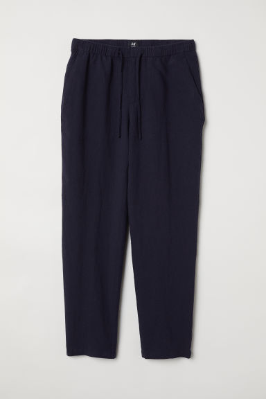 Wide trousers - Dark blue - Men | H&M