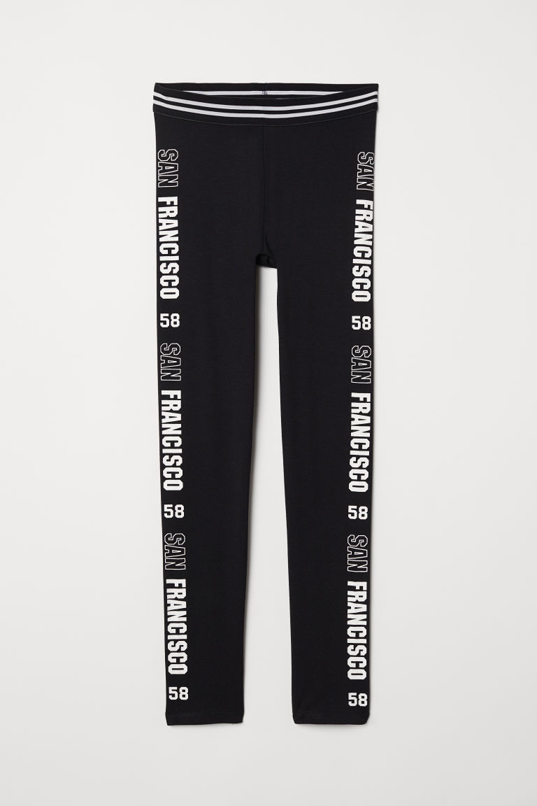 Printed jersey leggings - Black/San Francisco - Kids | H&M