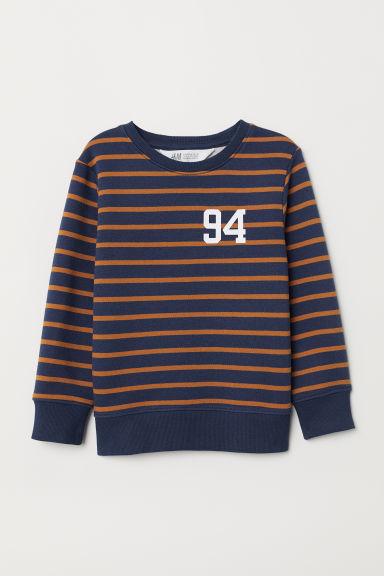 Sweatshirt - Dark blue/Striped - Kids | H&M GB