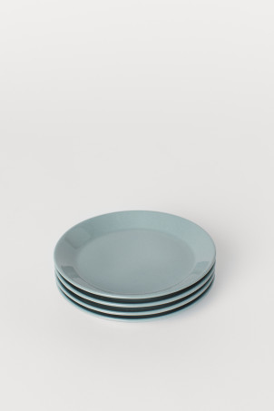 4-pack small ceramic plates