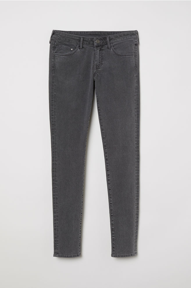 9605ff14ee ... Super Skinny Low Jeans - Denim gris oscuro - MUJER