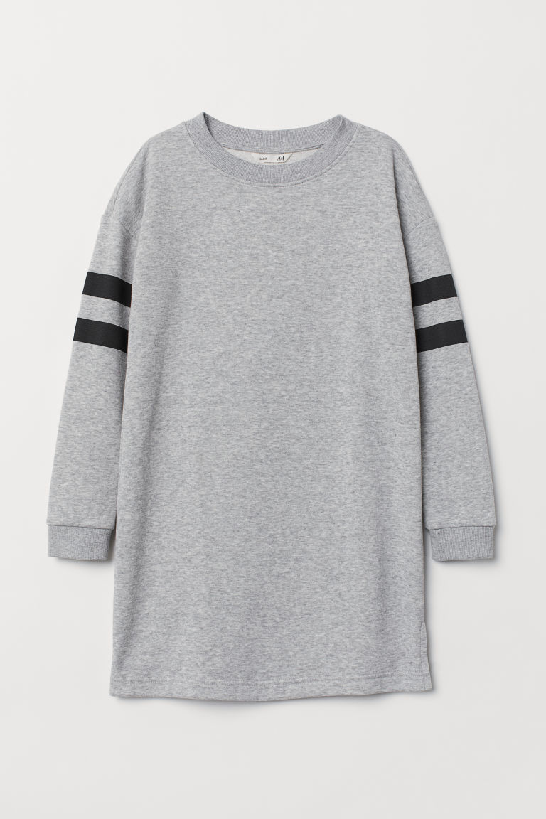 Sweatshirt dress - Light grey marl - Kids | H&M CN