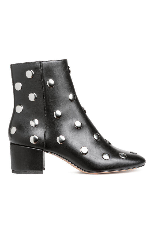 c6cbdf36b7f Ankle Boots with Studs - Black - Ladies | H&M ...
