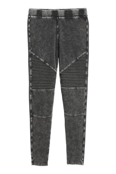 Jersey biker leggings - Black -  | H&M GB