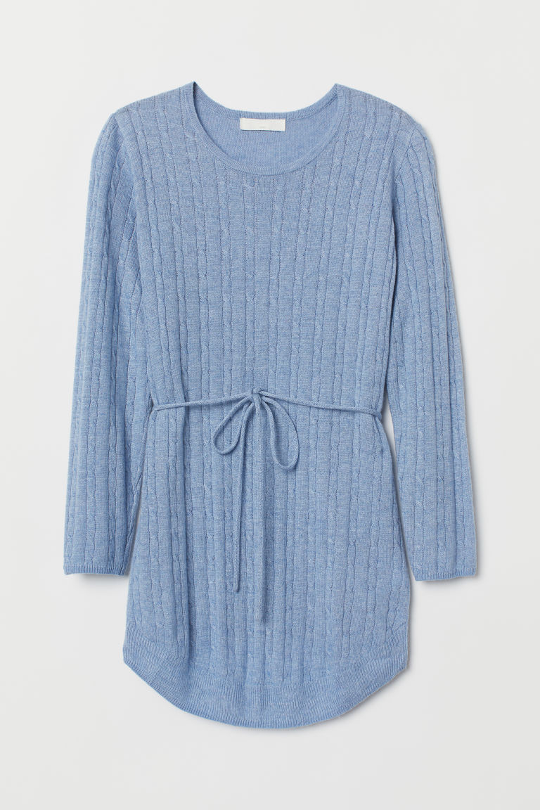 MAMA Cable-knit jumper - Blue marl - Ladies | H&M CN
