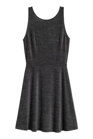 Short dress - Black/Glittery - Ladies | H&M GB