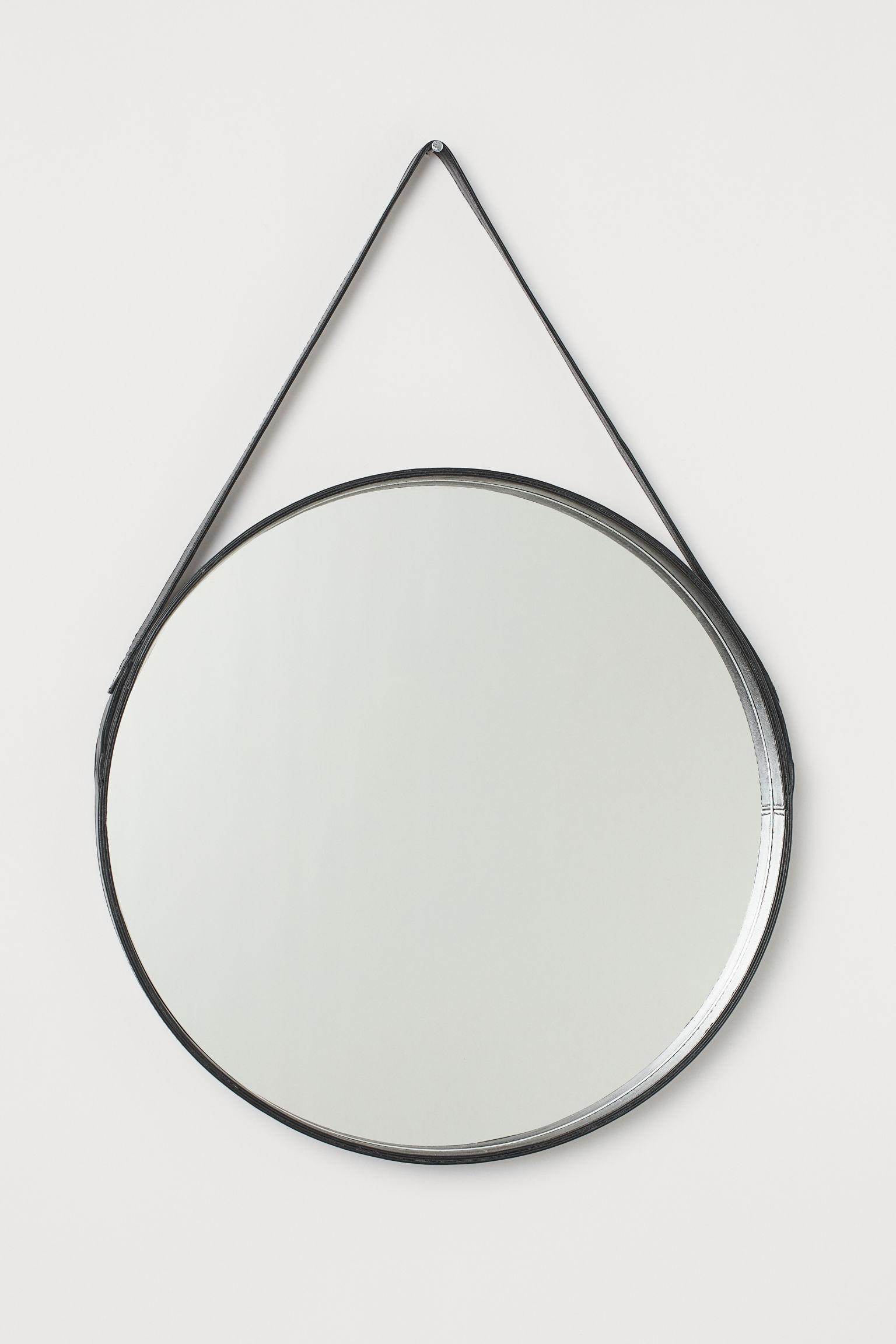 Kjempebra Rundt speil med skinnramme - Sort - Home All | H&M NO SG-55