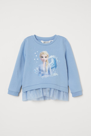 Sweatshirt with tulle
