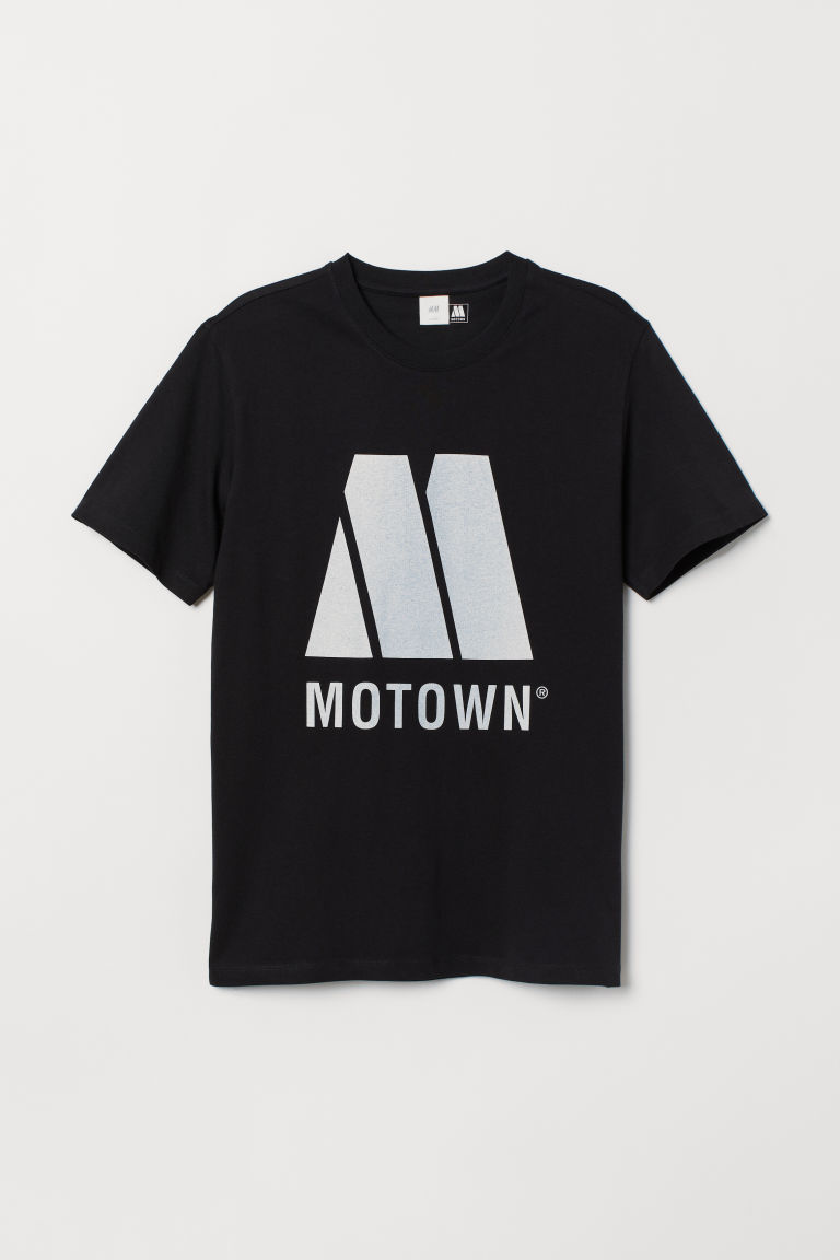 Printed T-shirt - Black/Motown - Men | H&M