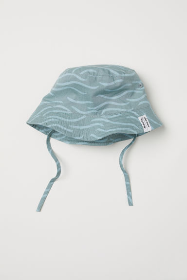 Cotton sun hat - Green/Patterned - Kids | H&M