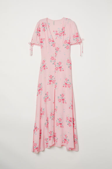 Dress with Buttons - Light pink/floral -  | H&M US