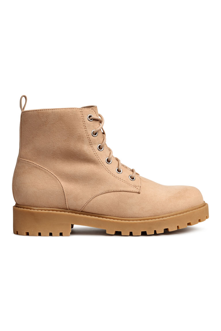 Pile-lined boots - Beige - Ladies | H&M