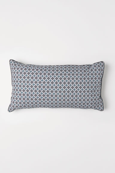 Cotton percale pillowcase - Dark green/Patterned - Home All | H&M CN