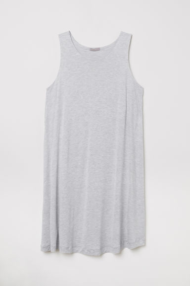 H&M+ Sleeveless jersey tunic - Light grey marl -  | H&M CN
