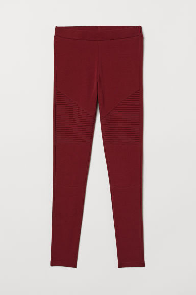 Leggings da biker in jersey - Rosso scuro -  | H&M IT