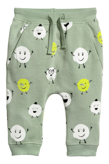 Joggers - Dusky green/Patterned - Kids | H&M